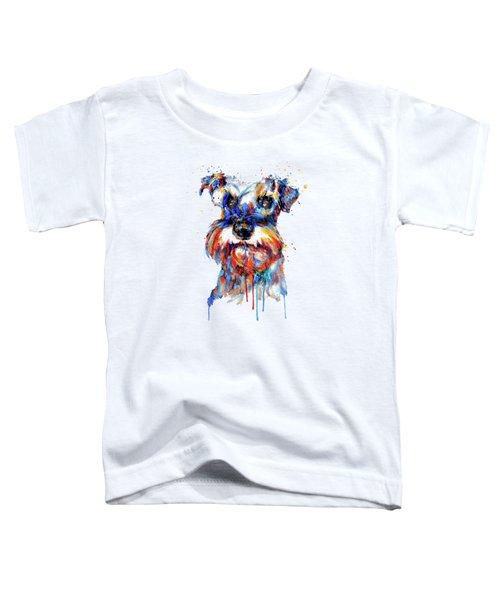 Schnauzer Head Toddler T-Shirt