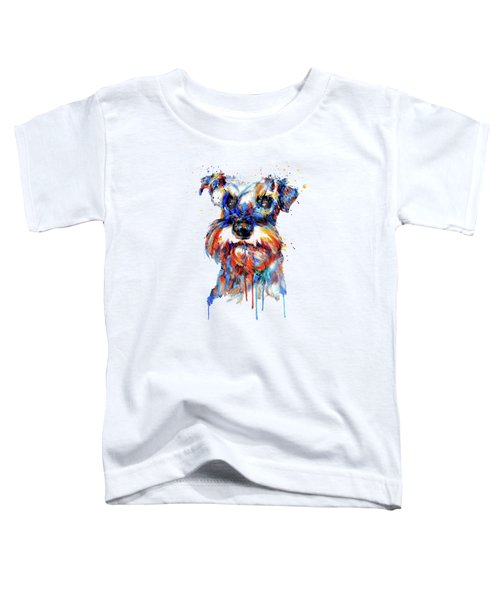 Schnauzer Head Toddler T-Shirt