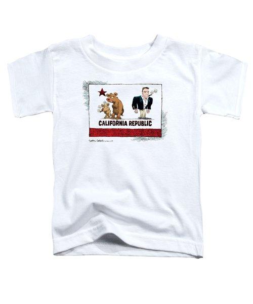 Schwarzenegger Love Child Flag Toddler T-Shirt