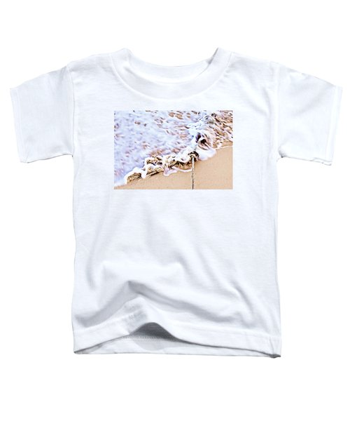 Seafoam And Ropes On The Beach Toddler T-Shirt
