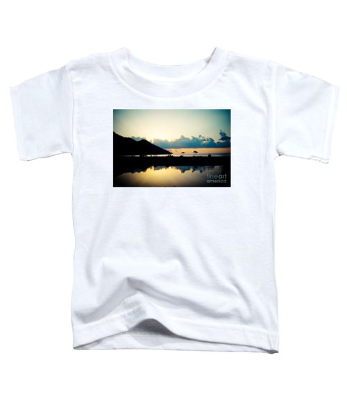 Seascape Sunrise Sea And Clouds  Toddler T-Shirt