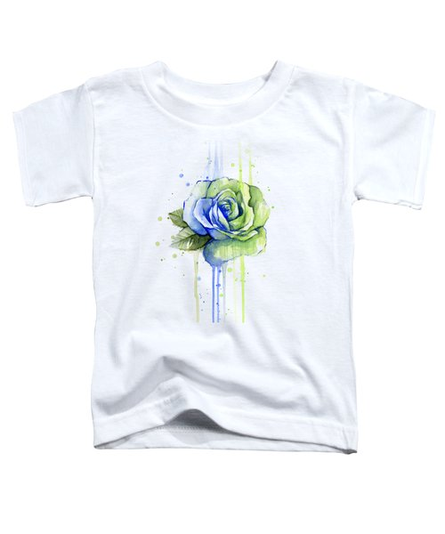 Seattle 12th Man Seahawks Watercolor Rose Toddler T-Shirt