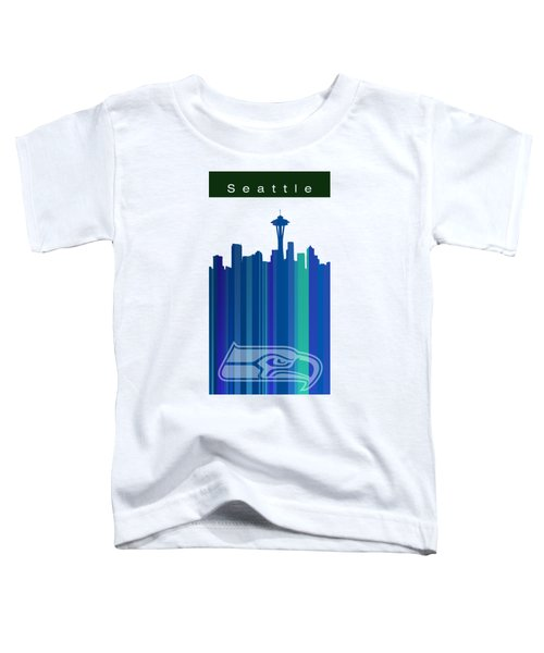 Seattle Sehawks Skyline Toddler T-Shirt by Alberto RuiZ