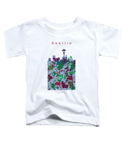 Seattle Skyline .3 Toddler T-Shirt by Alberto RuiZ