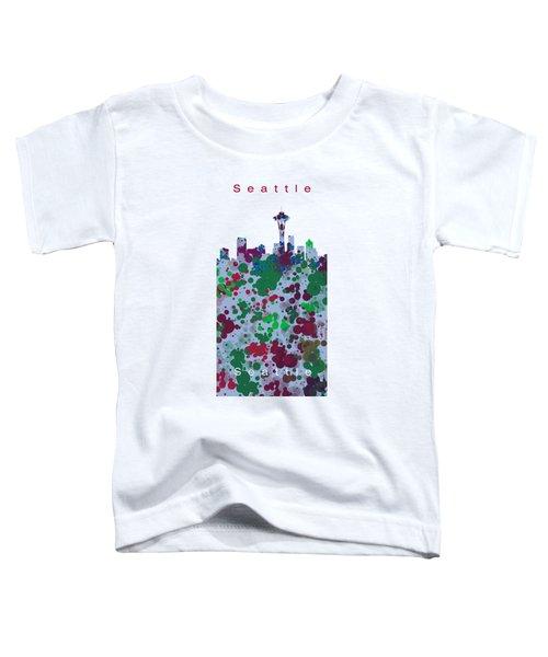 Seattle Skyline .3 Toddler T-Shirt