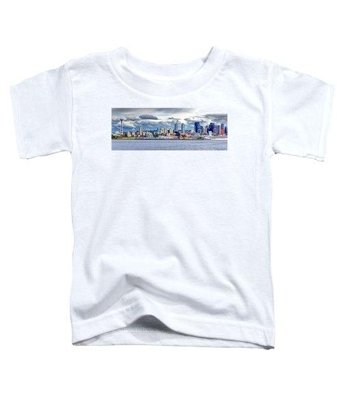 Seattle Skyline Hdr Toddler T-Shirt