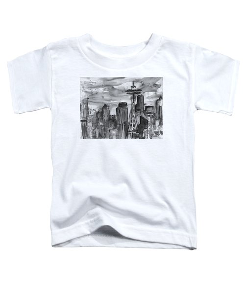 Seattle Skyline Space Needle Toddler T-Shirt