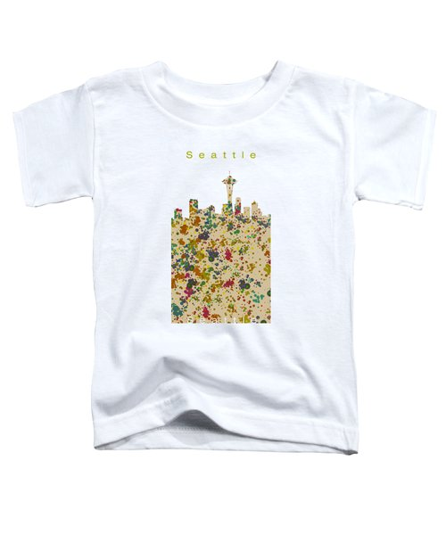 Seattle Skyline.2 Toddler T-Shirt by Alberto RuiZ