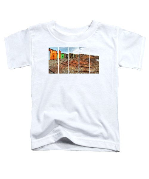 Toddler T-Shirt featuring the photograph Second Valley Boat Sheds by Stephen Mitchell