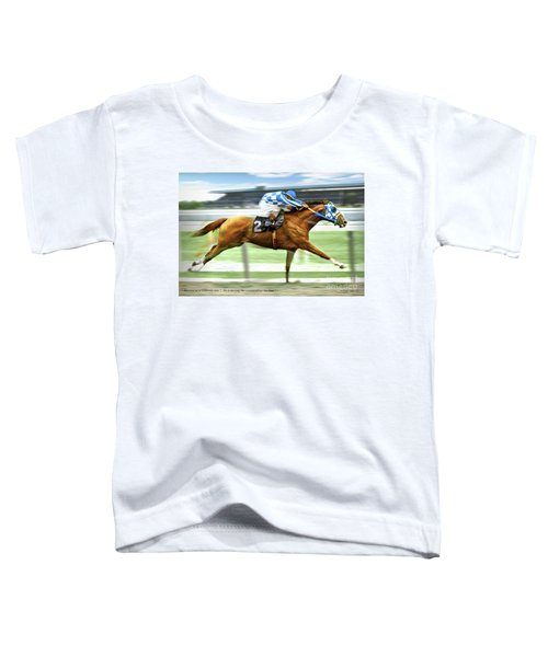 Secretariat On The Back Stretch At The Belmont Stakes Toddler T-Shirt