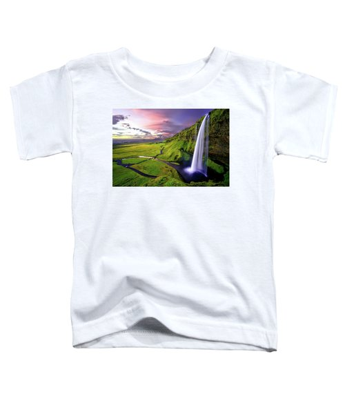 Seljalandsfoss Waterfall Toddler T-Shirt