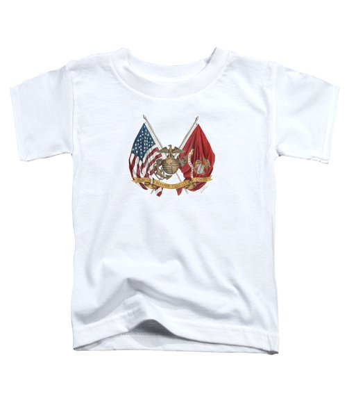 Semper Fidelis Crossed Flags Toddler T-Shirt
