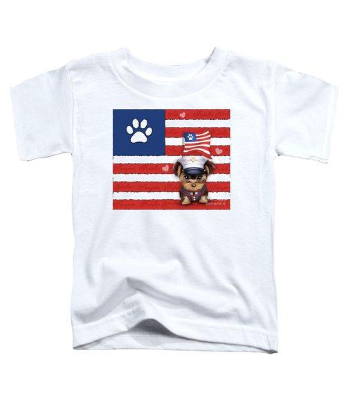 Semper Fidelis Yorkie Marine Toddler T-Shirt