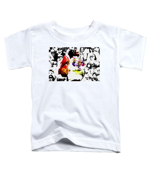Serena Williams 2f Toddler T-Shirt by Brian Reaves