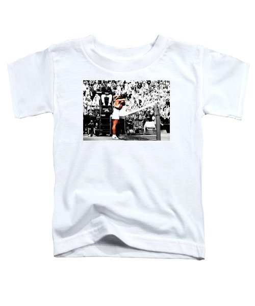 Serena Williams And Angelique Kerber 1a Toddler T-Shirt by Brian Reaves