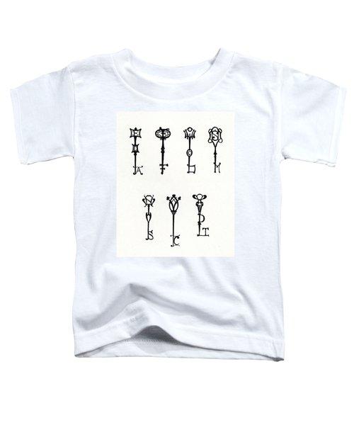 Seven Designs Of Initial Keys Toddler T-Shirt