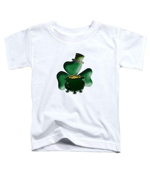 Shamrock And Pot Of Gold Toddler T-Shirt