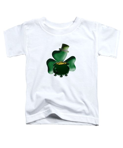 Shamrock And Pot Of Gold Toddler T-Shirt