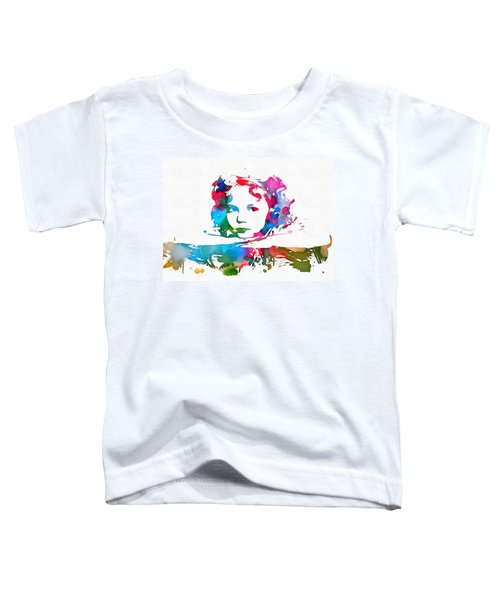 Shirley Temple Watercolor Paint Splatter Toddler T-Shirt