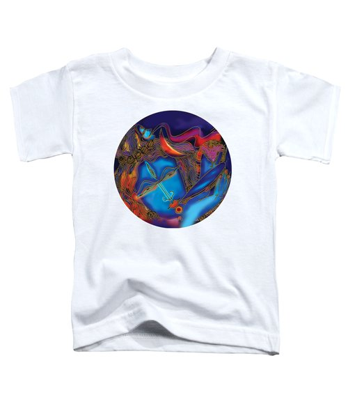 Shiva Blowing The Horn Toddler T-Shirt