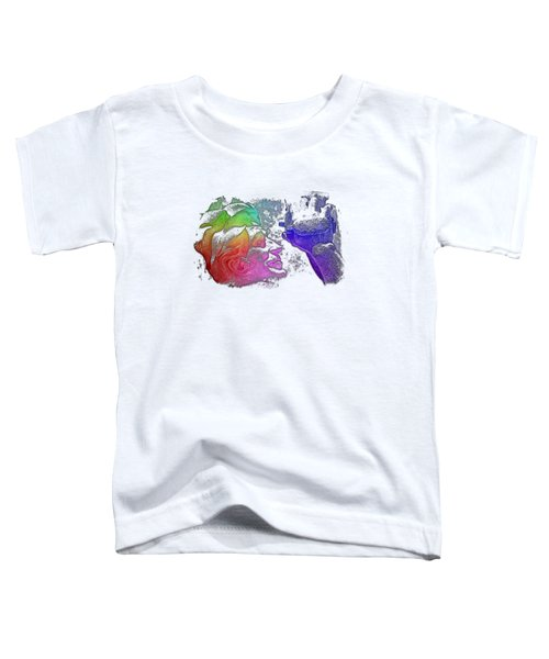Shoot For The Sky Cool Rainbow 3 Dimensional Toddler T-Shirt