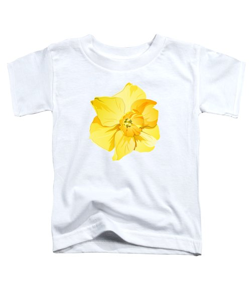 Short Trumpet Daffodil In Yellow Toddler T-Shirt