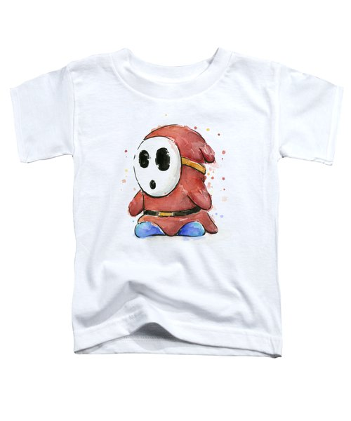 Shy Guy Watercolor Toddler T-Shirt by Olga Shvartsur
