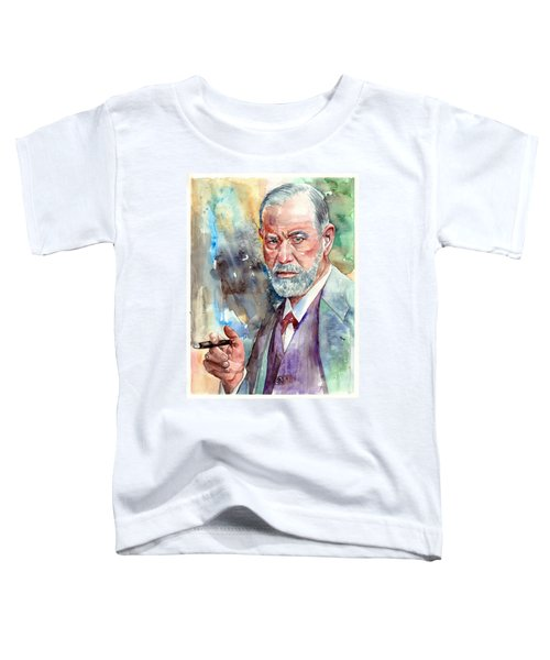 Sigmund Freud Portrait Toddler T-Shirt