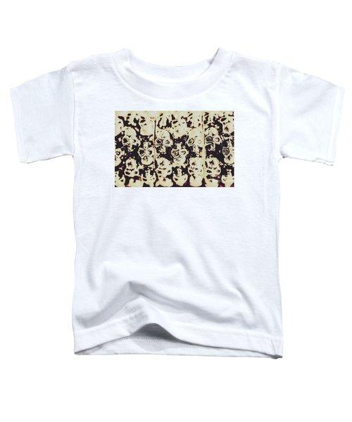 Silver Skull Art Toddler T-Shirt