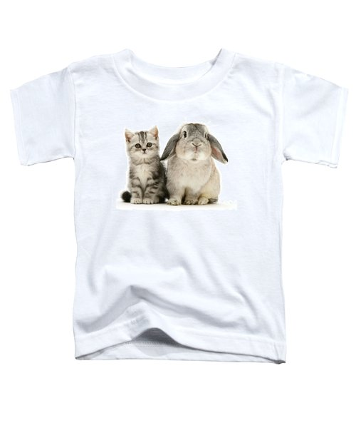 Silver Tabby And Rabby Toddler T-Shirt
