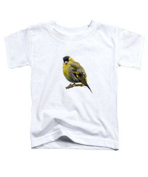 Siskin - Carduelis Spinus Toddler T-Shirt by Bamalam  Photography