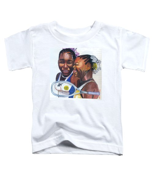 Sisters Williams Toddler T-Shirt by Emmanuel Baliyanga