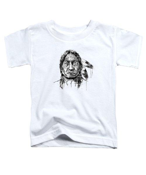 Sitting Bull Black And White Toddler T-Shirt