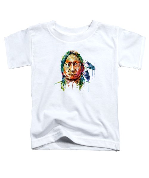 Sitting Bull Watercolor Painting Toddler T-Shirt