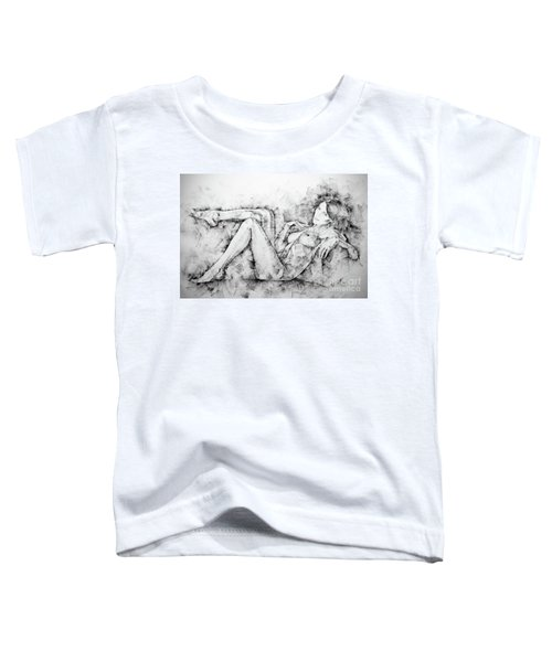 Sketchbook Page 46 Drawing Woman Classical Sitting Pose Toddler T-Shirt