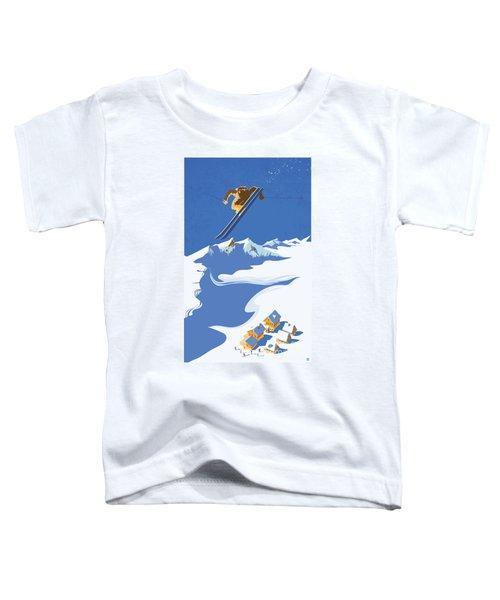 Sky Skier Toddler T-Shirt