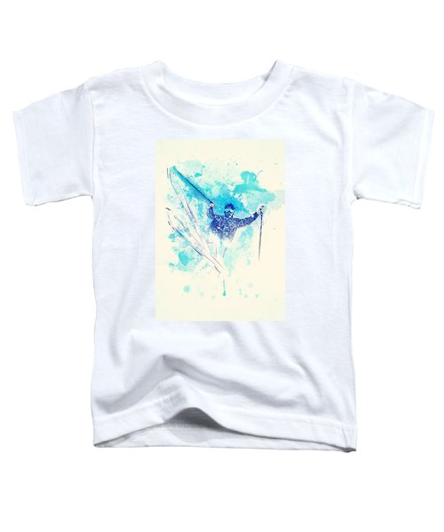 Skiing Down The Hill Toddler T-Shirt
