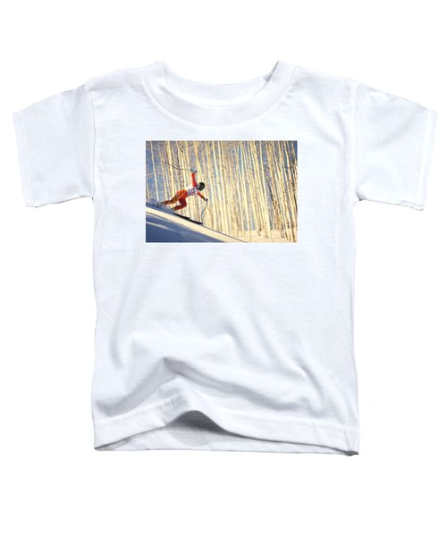 Skiing In Aspen, Colorado Toddler T-Shirt