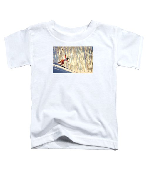 Toddler T-Shirt featuring the photograph Skiing In Aspen, Colorado by Travel Pics