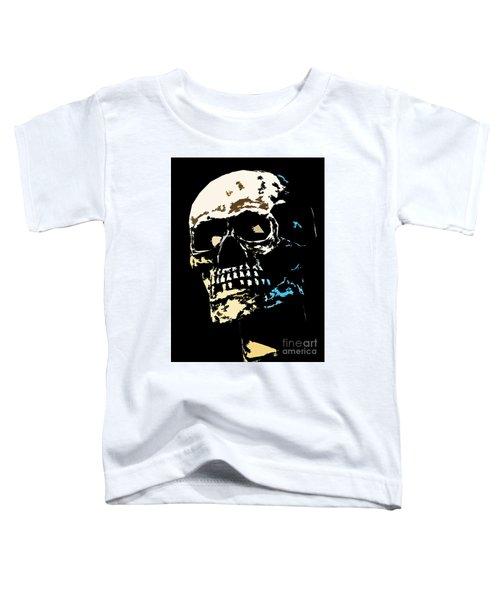 Skull Against A Dark Background Toddler T-Shirt