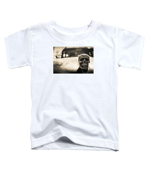 Toddler T-Shirt featuring the photograph Skull Car by Lora Lee Chapman