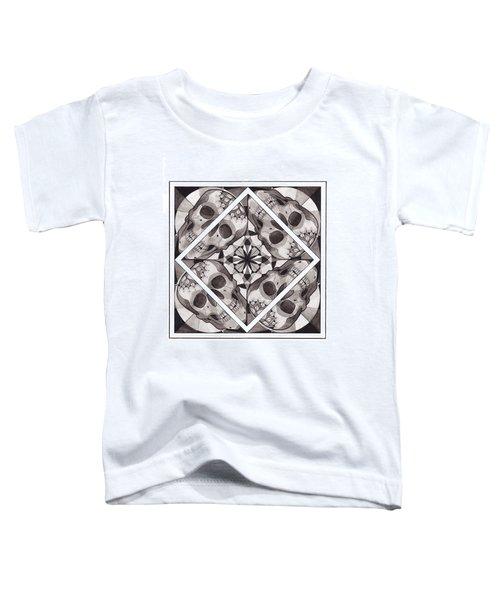 Skull Mandala Series Number Two Toddler T-Shirt by Deadcharming Art