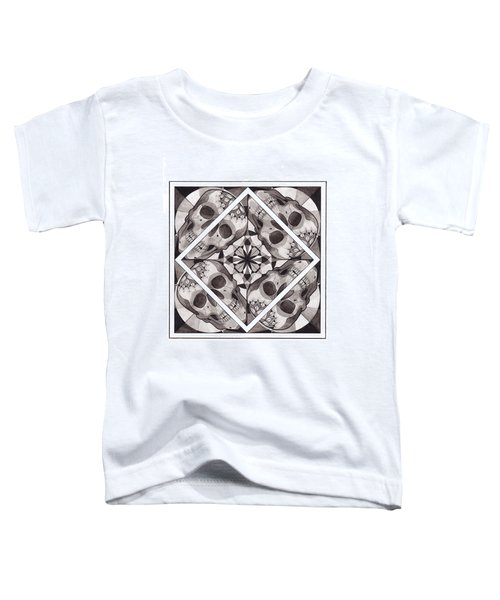 Skull Mandala Series Number Two Toddler T-Shirt