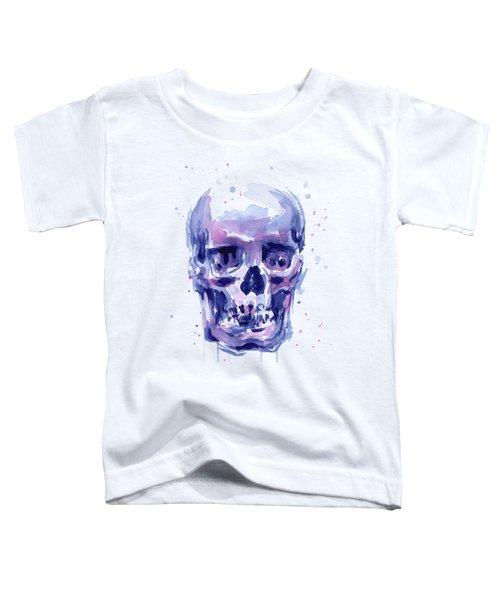 Skull Watercolor Toddler T-Shirt