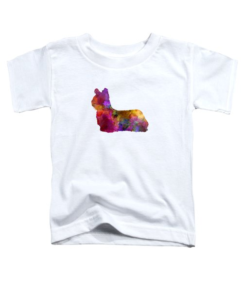 Sky Terrier 01 In Watercolor Toddler T-Shirt