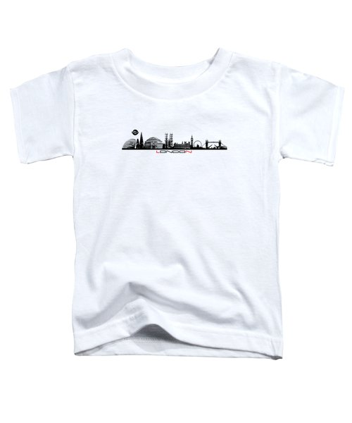 skyline city London black Toddler T-Shirt by Justyna JBJart
