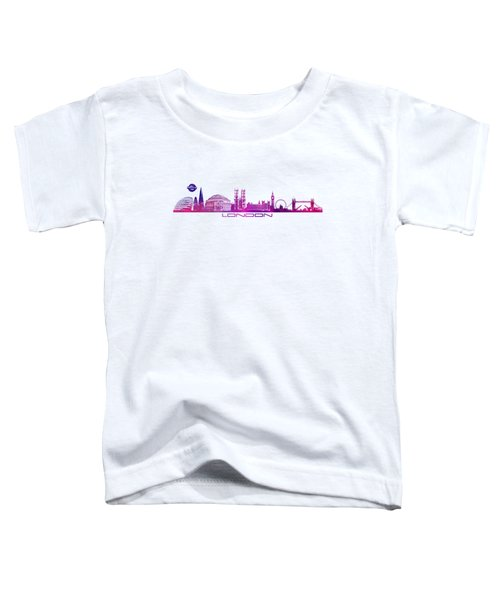 skyline city London purple Toddler T-Shirt by Justyna JBJart