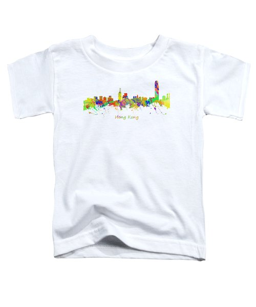 Skyline Of Hong Kong Toddler T-Shirt by Chris Smith