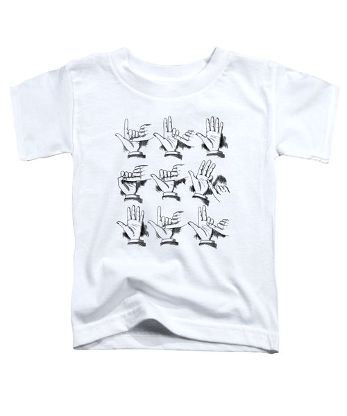 Slight Of Hand Toddler T-Shirt by Edward Fielding