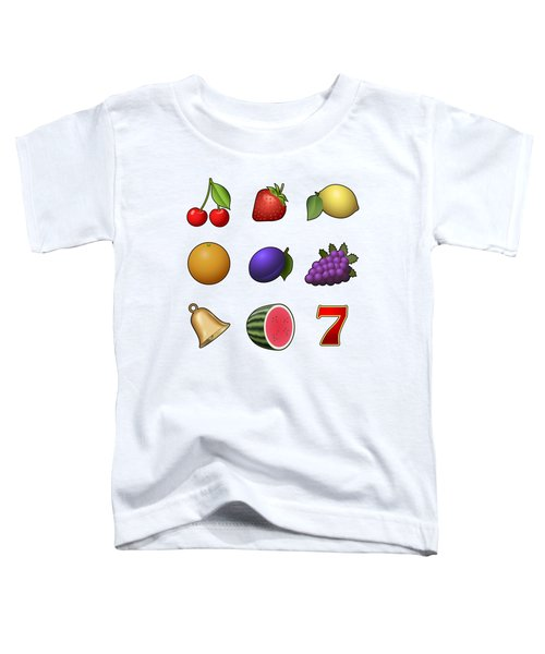 Slot Machine Fruit Symbols Toddler T-Shirt